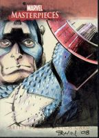 Captain America sketch card by MarkIrwin