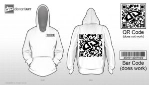 DA QR Code Hoodie 8-bit Contest Entry by inkedicon