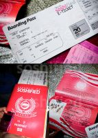 AIR soshified Plane Ticket by soshified