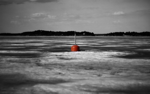 Lonely Buoy - 1680x1050 by rickisen