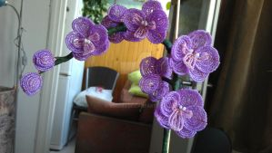Beaded Orchid by ViveEe3