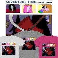Adventure Time Sleater Kinney Tshirt Design by stideshvn