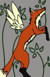 more fox doodles with wings by maddierigotti