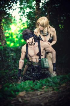 Snake and Eva - Metal Gear Solid 3 Cosplay Art NEW by LeonChiroCosplayArt