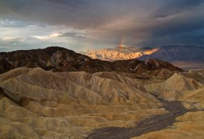 Rainbow Over Death Valley by MirMidPhotos