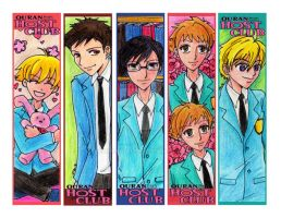Ouran Host Club Bookmarkers by vanmaniac