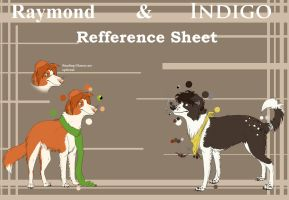 Raymond and Indigo Ref sheet by Mystik-wolf91