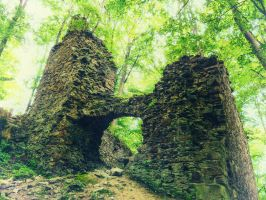 A ruin of a Castle Oheb, the Czech Republic by antivir123