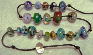 lampwork beads again by wombat1138