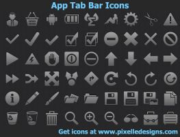 App Tab Bar Icons by Ikonod