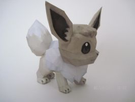 Shiny Eevee Papercraft by PrincessStacie