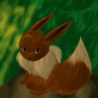 Mysterious Eevee by Chicorii