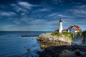 Summers Day At Portland Head Light by sharktankfan