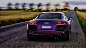 Audi R8 rear view render by yamell