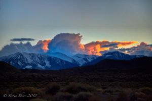 Sunset Over The Sierras by Mac-Wiz