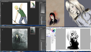 Various WIPS and Unfinished works by LyraAbyss
