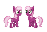 Cheerilee and Cherry Blossom by TheCheeseburger