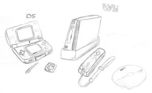 DS and Wii by TheToadBro