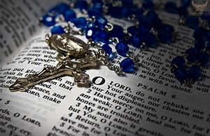 Holy Rosary Still Life by lee-sutil
