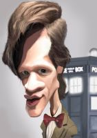 Matt Smith Dr Who Caricature by Steveroberts