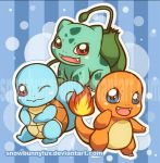 Pokemon Starters by snowbunnyluv