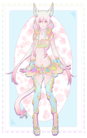 Adopt: Spring Neko [CLOSED] by Kialun