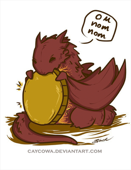 The Hobbit - Chibi Smaug Gif by caycowa