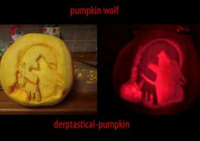 pumpkin wolf by Derptastical-pumpkin