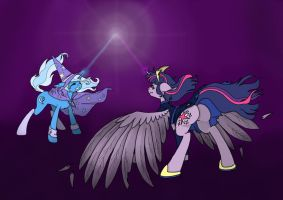 Art Trade - the magic battle by just-agu