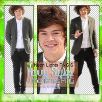 Harry Styles - Neon Lights PNG'S by SoffMalik