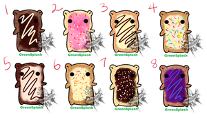 Toaster Pastry Gummy Adopts (closed) by Tygerlanders-adopts