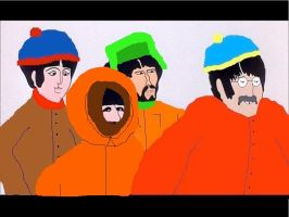South Park Beatles by cherrypeachberry