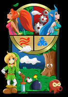 Zelda Oracle of Ages/Seasons Super Fan Art Complet by ArcticFox223