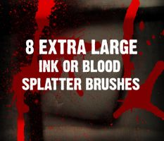 8 HI-RESOLUTION SPLATTER BRUSH by joezerosum