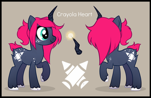 Crayola Heart .:reference by Sutexii