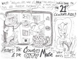 The Country Mouse and the City Mouse: TODAY! by JCSStudio