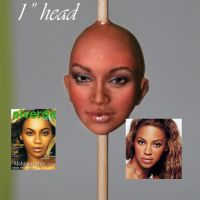 "ooak 1"" head beyonce portrait by fairiesndreams"
