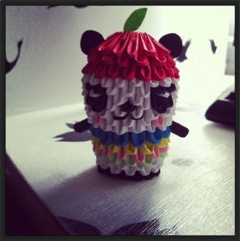 3D Origami: Pandapple by inyeon