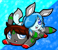 PC ~ chibi Yoshi and Freeze ~ by TheShadowEevee255