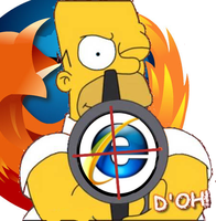 Homer uses Firefox by GaussianCat