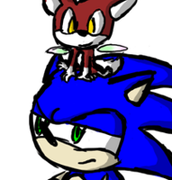 Sonic and Chip head sit by AgentWerehog