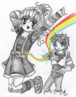Chibi Rainbow and Krys by JoeyAngel
