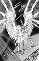 ECCC Space Angel Print-- Rough by billydallaspatton