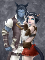 Commission - Brom and Adriel by RoninDude