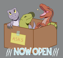 Ask the New Raptor Squad by redflamekitty44