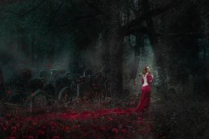 The lady in red by graigue