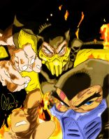 Scorpion and Sub-Zero Final by Archetypical-G
