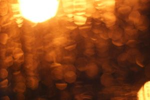 Orange Bokeh 3 by Stichflamme-Stock