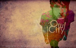 Owl City Watercolor Splat by miguelm-c