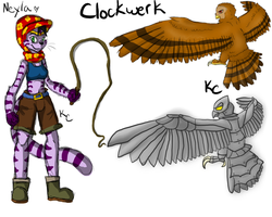 Neyla and Clockwerk by SnookumsGal